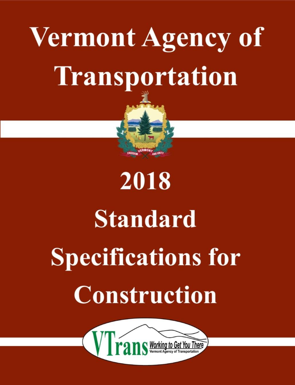 2018 Specifications   Agency of Transportation